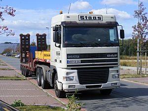 English: DAF flatbed truck in Bremen