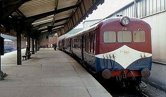 UTA 70 Class - A Class 70 set stands at Belfast York Road station
