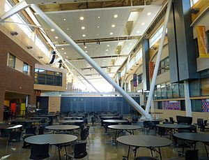 Denny International Middle School - The Galleria at Denny IMS (2011). The former exterior wall of Chief Sealth IHS is on the right.