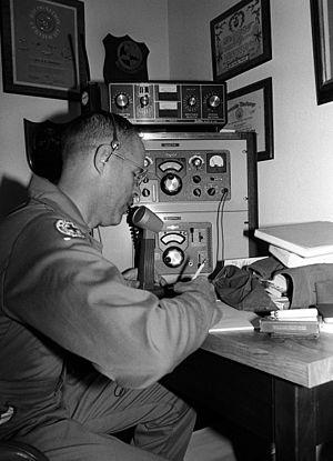 Military Auxiliary Radio System - MARS Operator at Marine Corps Logistics Base Albany, 1983.