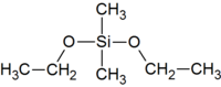 Structural formula of dimethyldiethoxysilane