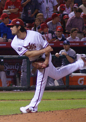 Dan Haren - Haren pitching during the 2009 All-Star Game in St. Louis