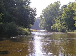 Along the West Branch of the Huron River in southeastern Oxford Township
