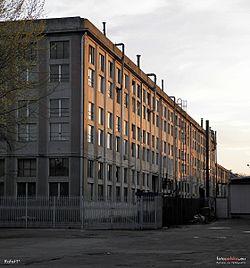Dawny budynek Fabryki Broni, elewacja północna.