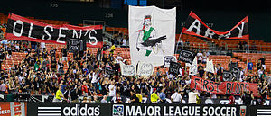 Ben Olsen - Supporters display a tifo supporting Olsen during a match against FC Dallas
