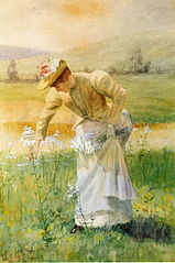 Nature et Lois morales dans APPRENDS-MOI 159px-DeScott_Evans_Woman_Picking_Flowers