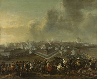 Franco-Dutch War - Painting of the capture of Coevorden by Dutch troops commanded by Carl von Rabenhaupt in December 1672