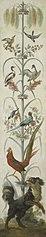 Decoratieve schildering met planten en dieren
