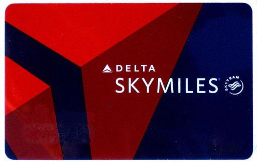 Delta Skymiles membership card