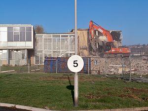 East Leeds Family Learning Centre - Demolition in December 2009.