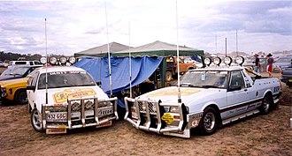Deniliquin - Two Utes at the Deni Ute muster 2002
