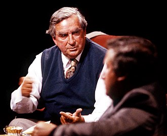 Denis Healey - Appearing on television discussion programme After Dark in 1989