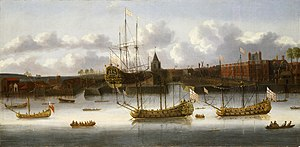Blackwall Yard - The East India Company's Yard at Deptford, 17th Century, National Maritime Museum, Greenwich