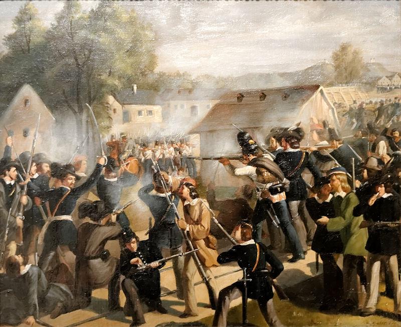 Der Kampf an der Taborbr%C3%BCcke in der Leopoldstadt Bonaventura Emler.jpg