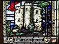 Derry Guildhall Tercentenary Window of The Honourable The Irish Society Left Side Window Detail Burt Castle 2019 08 29.jpg