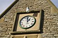 Detail of Cemetery Lodge, showing locally-made clock - geograph.org.uk - 78784.jpg