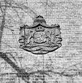 Detail voorgevel kantoorgebouw- gietijzeren plaquette naast de ingang - Oss - 20341239 - RCE.jpg