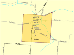 Detailed map of Quincy