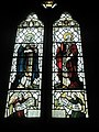 Detailed stained glass window on the north wall at St Peter's, High Cross - geograph.org.uk - 1183439.jpg