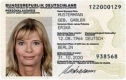 Deutscher Personalausweis (2010 Version)