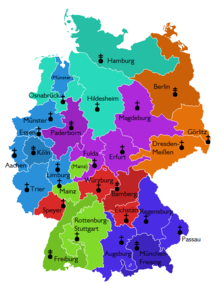 List Of Catholic Dioceses In Germany Wikipedia