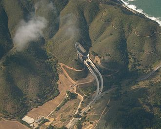 Tom Lantos Tunnels - Aerial view of tunnel under construction as a bypass at Devil's Slide