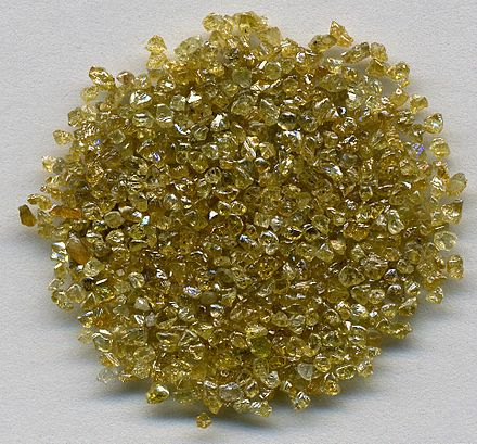 Rough diamonds ~1 to 1.5 mm in size from DR Congo. Diamonds- Zaire, (DR Congo) (8458935824).jpg