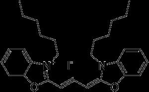 DiOC6 - Image: Dihexyloxacarbocyani ne iodide