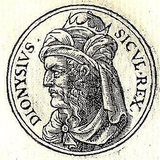 Dionysius I of Syracuse - Dionysius I from Guillaume Rouillé's Promptuarii Iconum Insigniorum