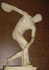 Discóbolo, Londres, British Museum, con la cabeza restaurada de modo incorrecto