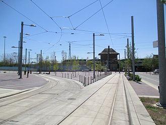 Toronto streetcar system loops - Distillery Loop prior to opening