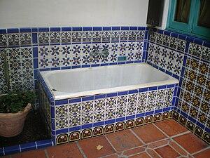 Adamson House - Dog bath at Adamson House