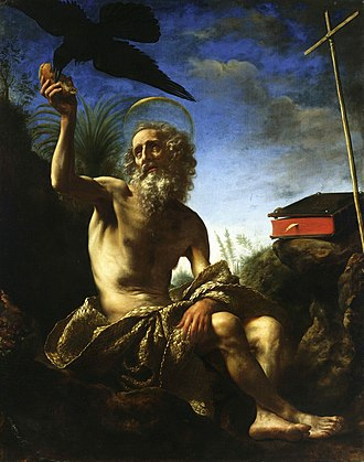 Carlo Dolci - Saint Paul the Hermit, before 1648, National Museum in Warsaw.