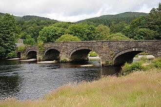 Dolgellau - Bridge over River Mawddach at Llanelltyd