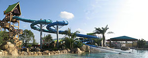 Aquatica (water parks) - Aquatica Orlando's Dolphin Plunge water slides