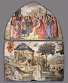 Domenico Ghirlandaio - Left wall of the Sassetti Chapel (detail) - WGA08794.jpg