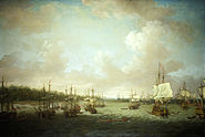 Dominic Serres the Elder - The Capture of Havana, 1762, Landing Cannon and Stores, 30 June