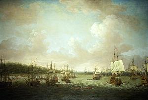 Dominic Serres the Elder - The Capture of Havana, 1762, Landing Cannon and Stores, 30 June.jpg
