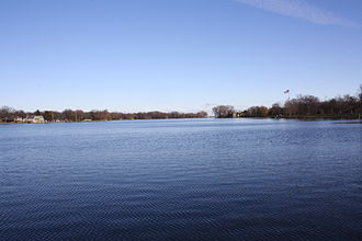 Doty Island - Looking north at Doty Island over the Fox River