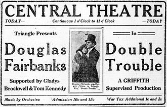 Double Trouble (1915 film) - Newspaper advertisement.