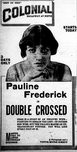 Double Crossed (1917 film) - Newspaper advertisement