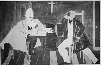 Frederick Douglass - Douglass argued against John Brown's plan to attack the arsenal at Harpers Ferry, painting by Jacob Lawrence