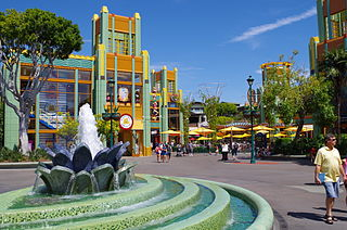 Downtown Disney shopping complex at the Disneyland Resort