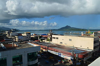 Tacloban - View of San Juanico Strait, the Tacloban harbor, and a part of downtown Tacloban, two years after Typhoon Haiyan struck the city