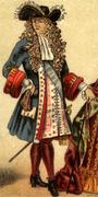 Moda masculina do século XVII.
