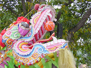 Dragon dance - The head of dragon