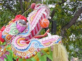 Dragon dance - The head of dragon