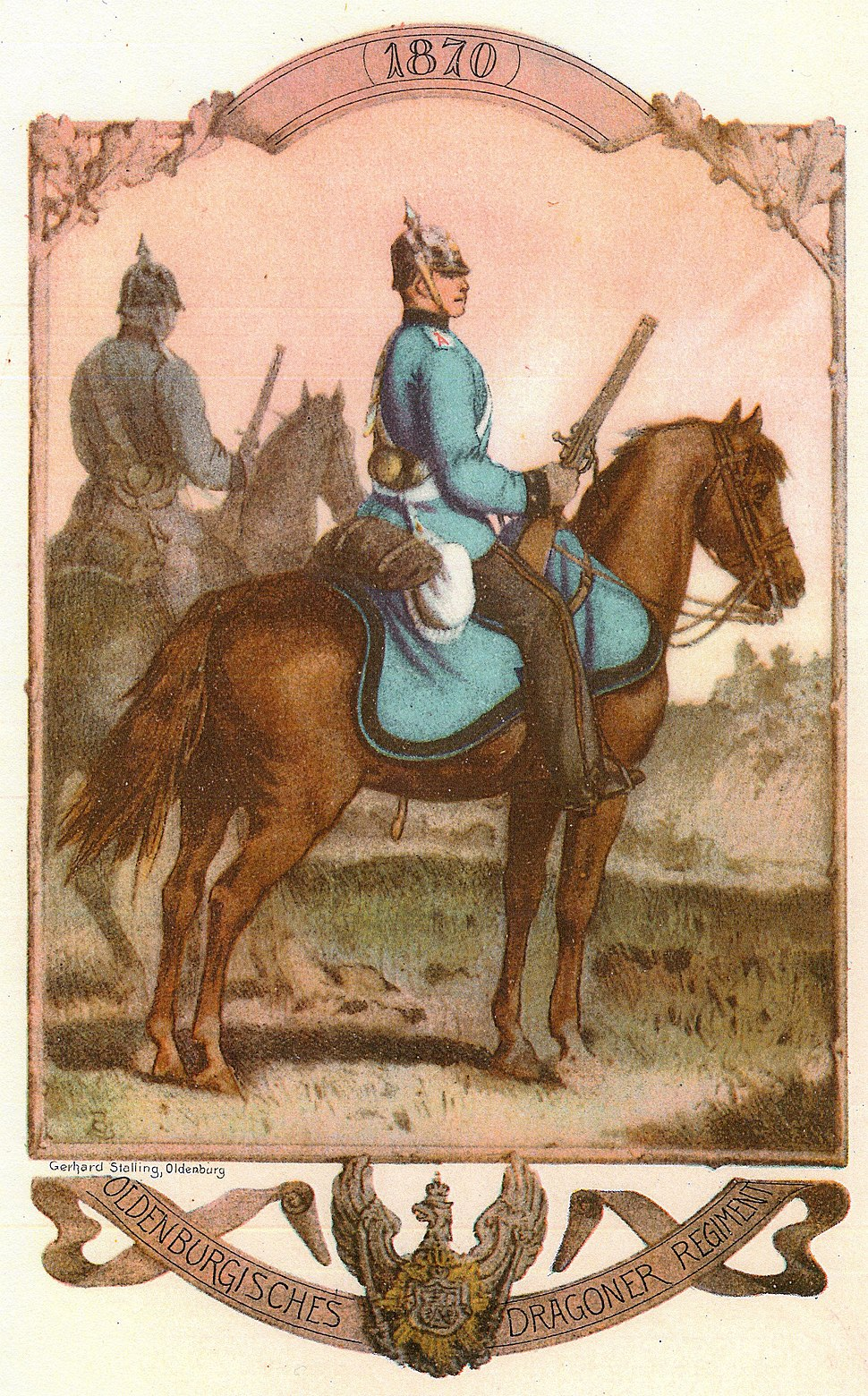 Dragoner des Oldenburgischen Dragoner-Regiments Nr. 19, 1870.