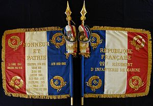 22nd Marine Infantry Regiment - Image: Drapeau du 22e RI Ma