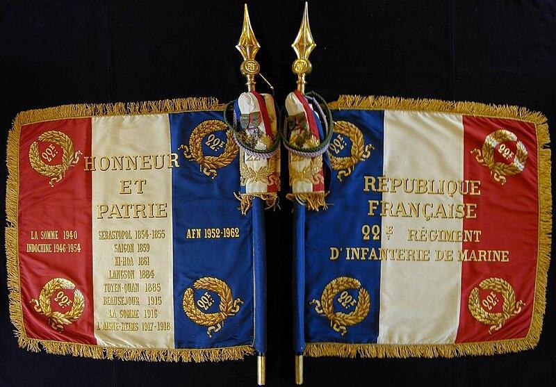 Le 22ème Régiment d'Infanterie Coloniale 800px-Drapeau_du_22e_RIMa